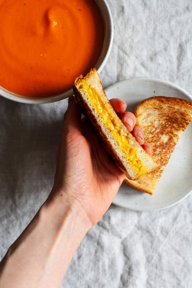 Vegan Pantry Tomato Soup & Grilled Cheese | The Full Helping